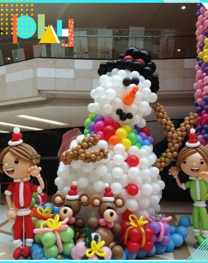 """019圣誕節氣球裝飾布置圖片大全!快來學起來"""""""
