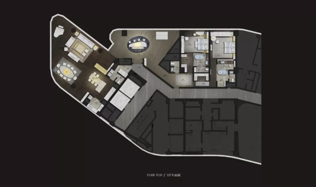 三里屯 平面图_【首发】CCD重磅力作:北京三里屯一号公寓·FENDI_设计