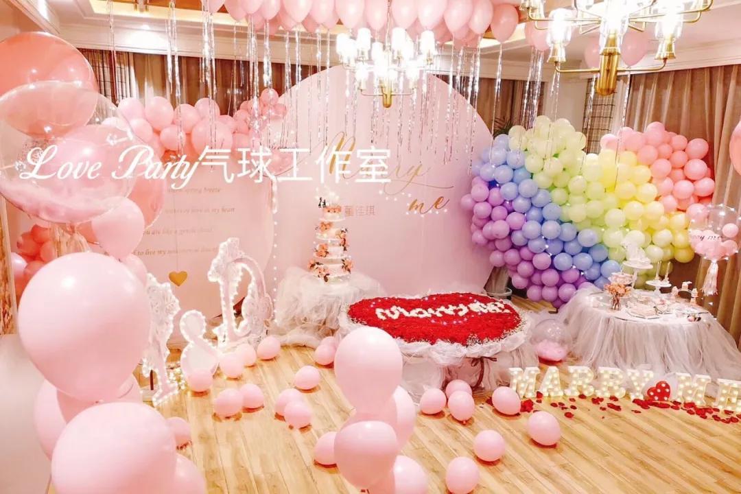 求婚氣球裝飾布置圖片!給她一場浪漫的求婚