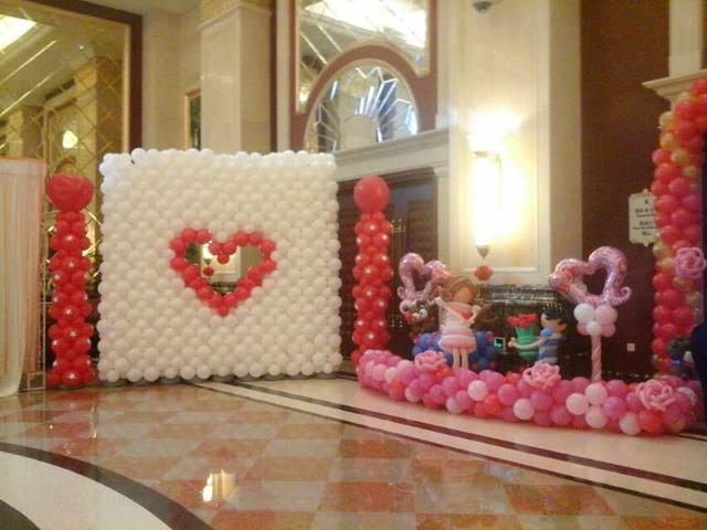 婚禮氣球布置圖片教程!今年流行的婚房布置