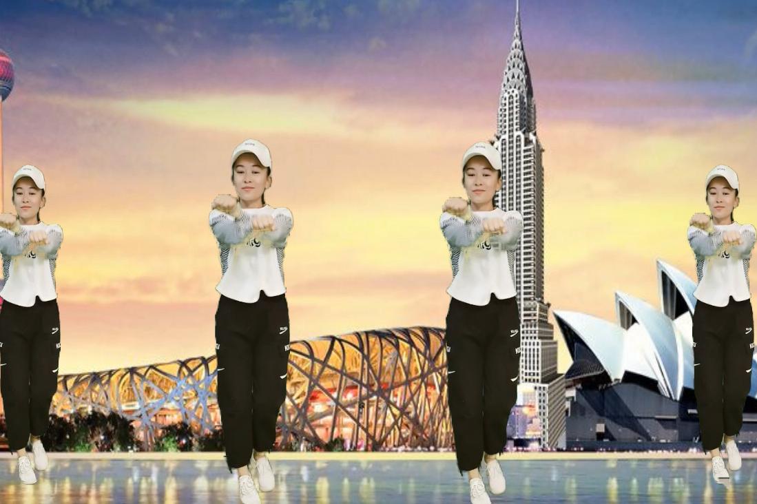 广场舞《欧若拉》张韶涵演唱的经典歌曲,简单好学又好看的步子!
