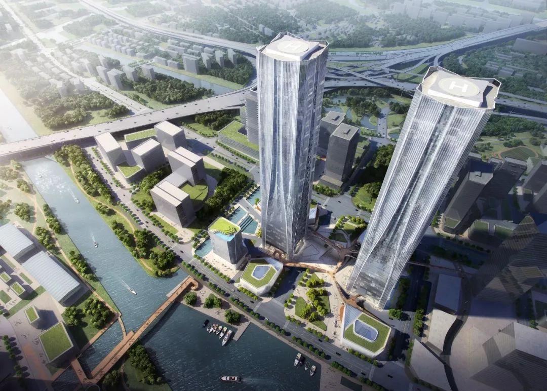 """上海第一双子塔 — 320米高""""科学之门""""项目启动!"""
