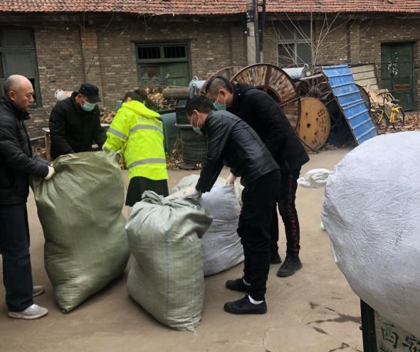陕西阳光救援救灾中心发起的寒冬送温暖活动