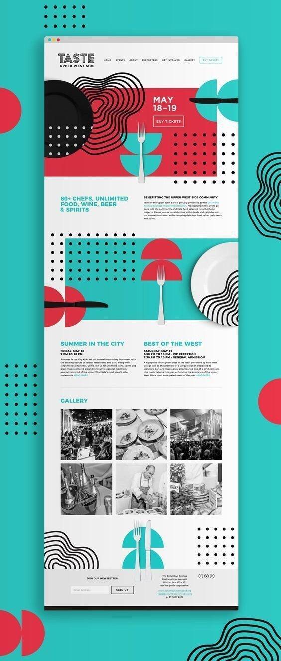 清爽设计风格网页页面排版设计