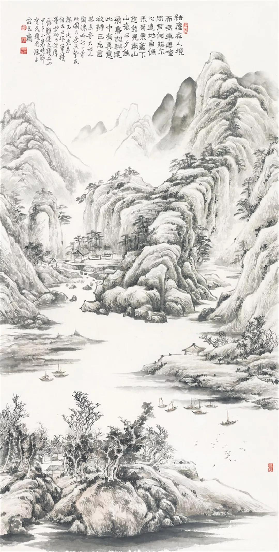 觀展 | 從《山道同行》看陳華諸師友的山水精神