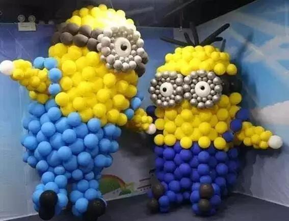 小黃人氣球造型圖片!來看看具體的制作過程吧
