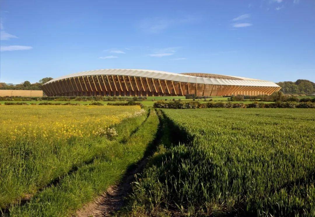 英国将建世界上第一个全木体育场,由扎哈事务所设计