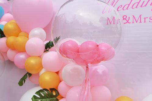 寶寶宴氣球布置圖片!2020寶寶宴氣球簡單布置圖