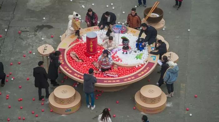 来北川旅游还可以这么玩,九皇山边吃火锅边赏雪景