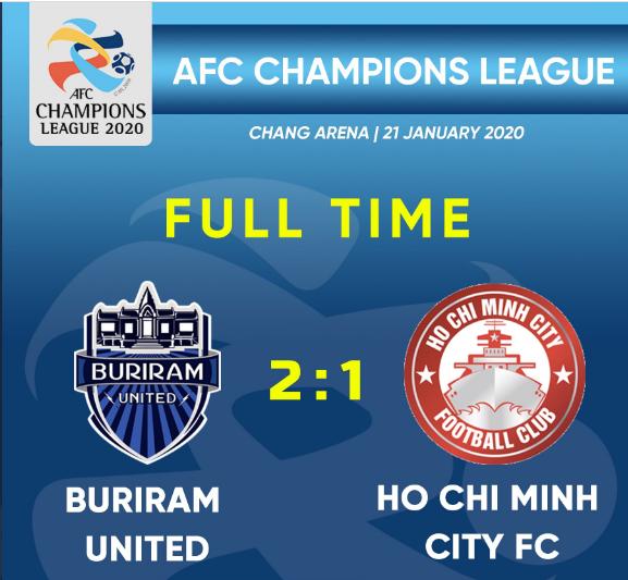 亚冠资格赛-武里南联2-1晋级 大年初四客战上港