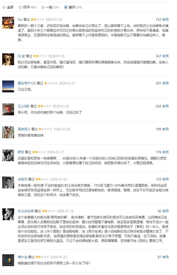 《囧妈》全片免费播放:网友评论两极分化的照片 - 5