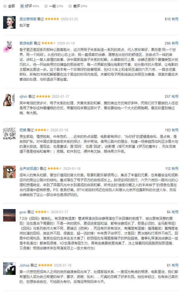《囧妈》全片免费播放:网友评论两极分化的照片 - 4