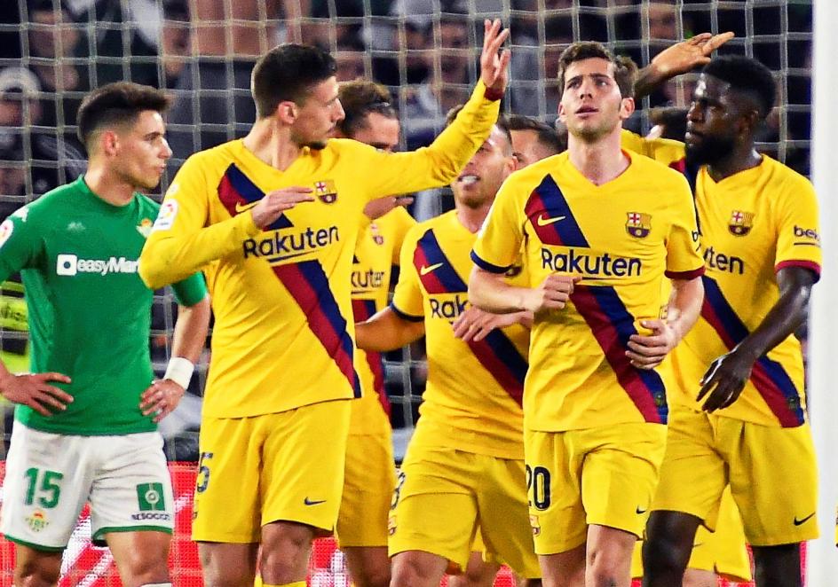 西甲-梅西助攻戴帽朗格莱染红 巴萨3-2贝蒂斯