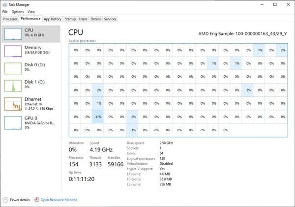 Win10竟然带不动AMD 64核心?的照片 - 6