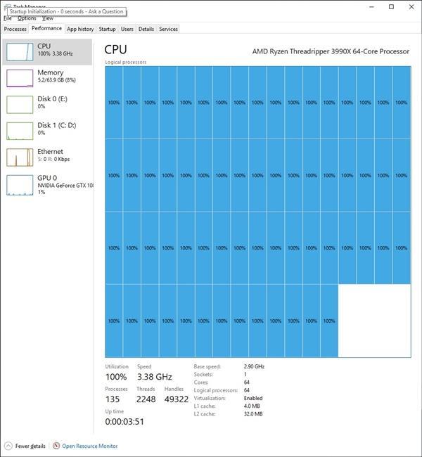 Win10竟然带不动AMD 64核心?的照片 - 4