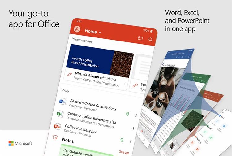 Word Excel PowerPoint等Office App正式版免费发布的照片 - 2