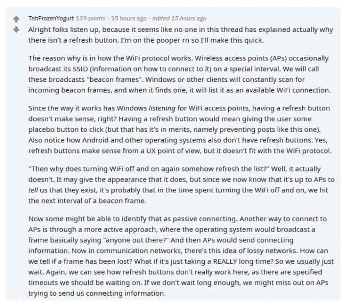 为何Win10的Wi-Fi窗口不设个刷新按钮的照片 - 3