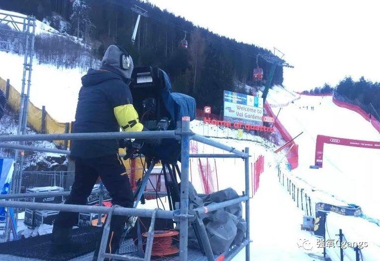 意大利的高山滑雪世界杯期间对4K UHD进行测试