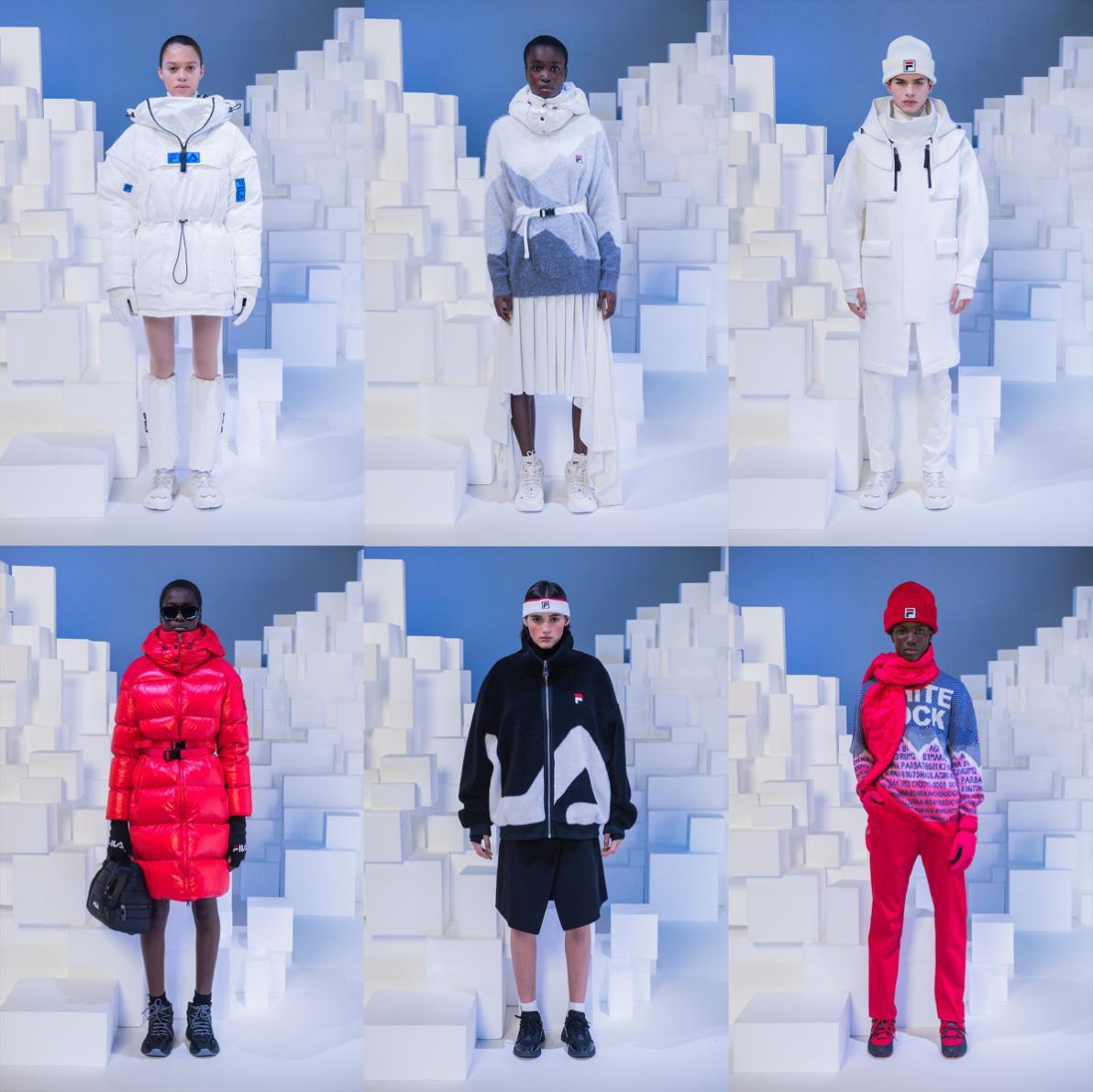 FILA 2020秋冬米蘭時裝周引領冬季連體造型新風潮
