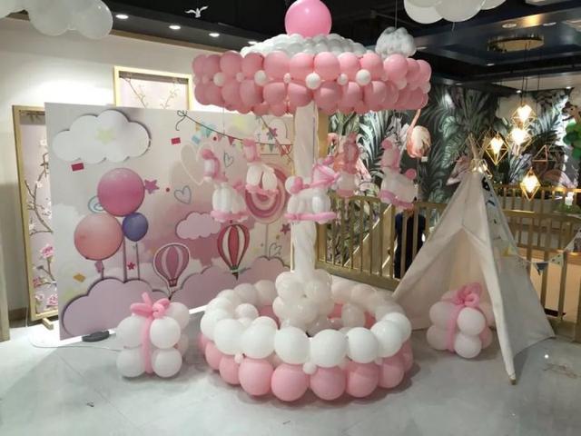 氣球現場布置效果圖片!浪漫氣球裝飾你不看看嗎