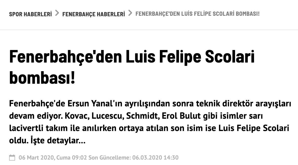 土超豪门球队欲聘斯科拉里 辉煌生涯让高层感兴趣
