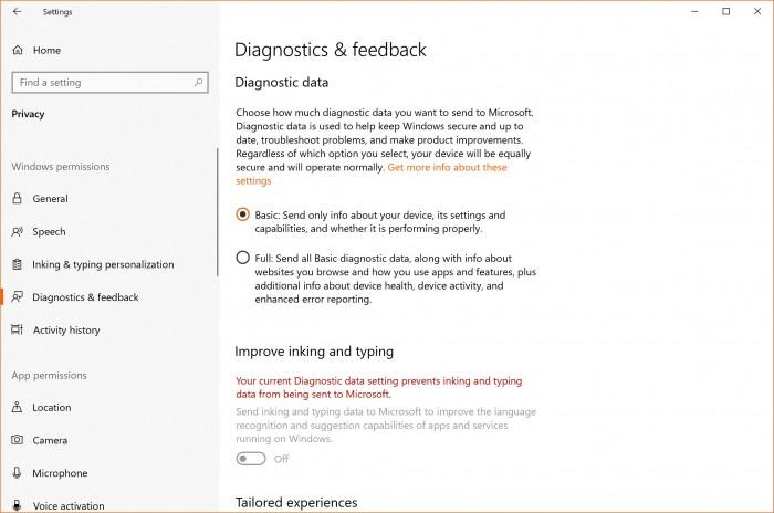 微软对其收集Win10用户数据的方式进行了大幅更改的照片 - 2