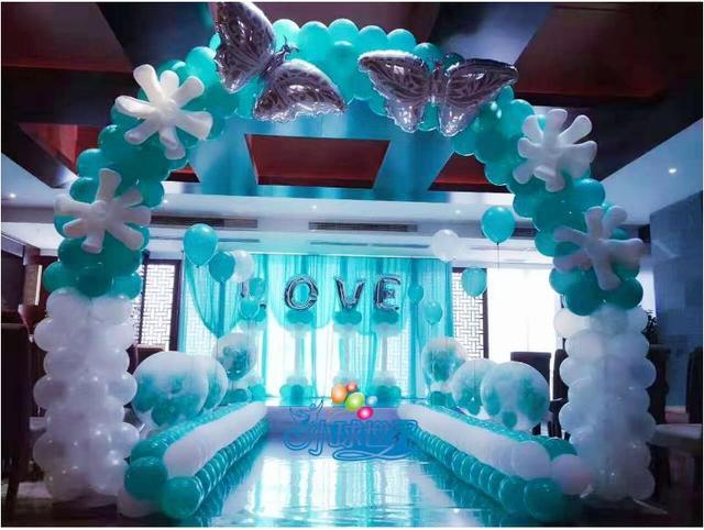 氣球布置婚房的圖片!一道亮麗的風景線