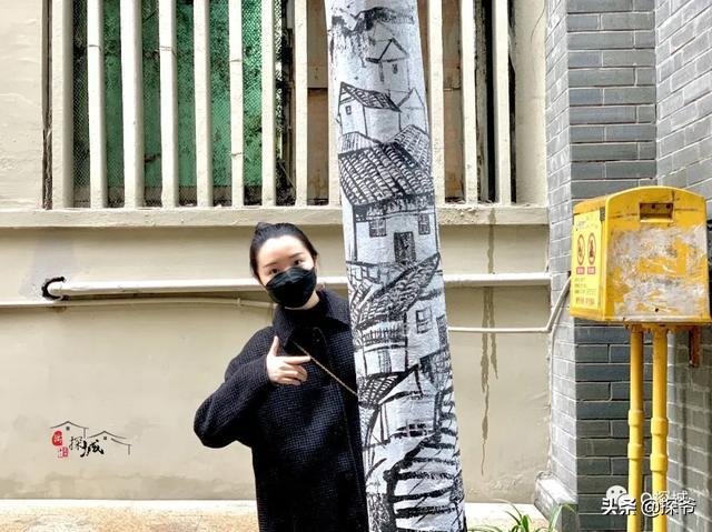 黑白涂鸦墙_渝中最新的涂鸦街区!藏在老居民楼里,有重庆最诗意的名字_枣子
