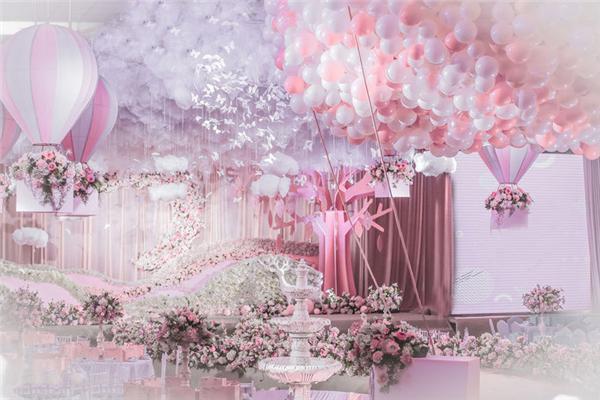 婚禮氣球墻面布置簡單而精彩!你不來看看嗎