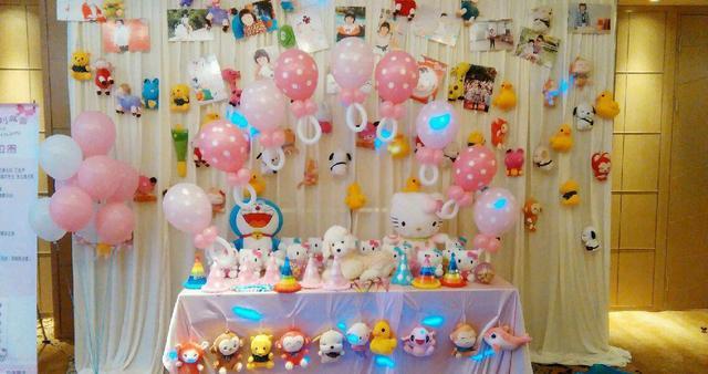 寶寶滿月宴氣球簡單布置圖片分享!網紅爆款ins風格