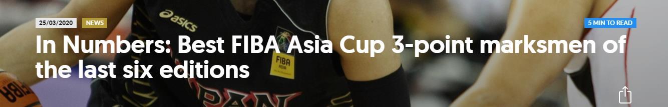 国际篮联评选近六届亚洲杯最佳射手,朱芳雨入围,李根获提名