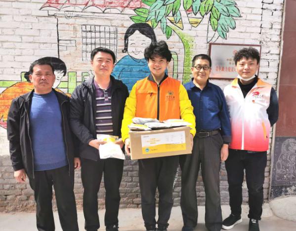 邢台市助学公益协会向广宗盐场小学捐赠防疫消毒用品