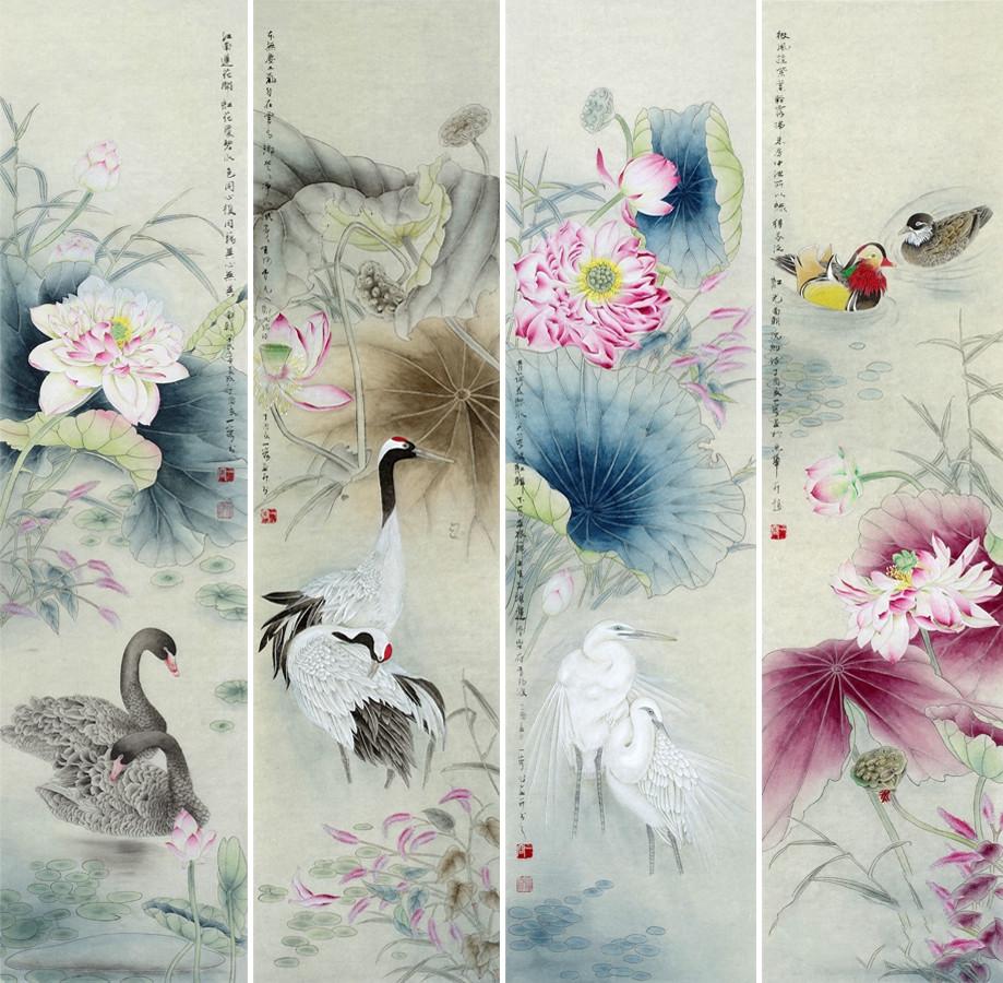家居装饰挂字画 一幅花鸟画挂出文雅别致