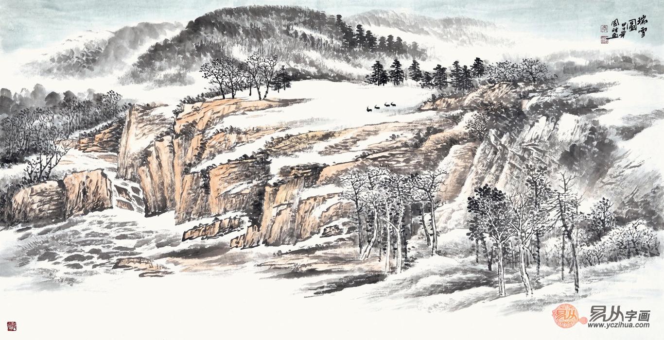 悦目舒心――品鉴画家李国胜的绘画雪景作品