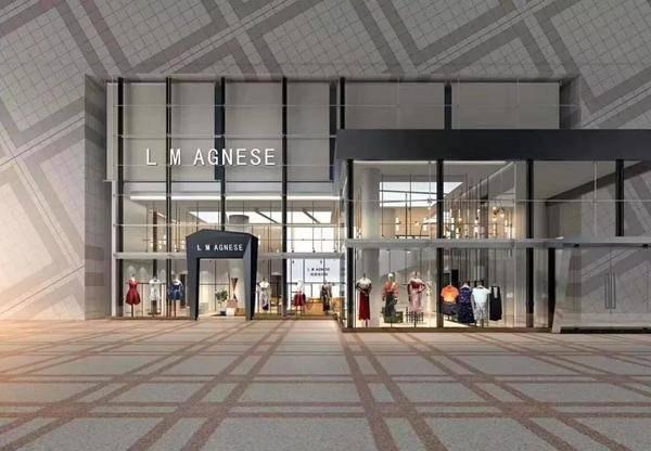 轻奢女装品牌L M AGNESE简爱格妮斯深圳地王店璀璨开业