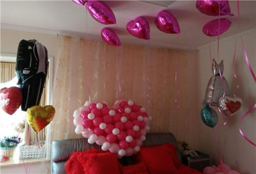 氣球簡單裝扮婚房圖片!分享婚房氣球裝扮圖片大全