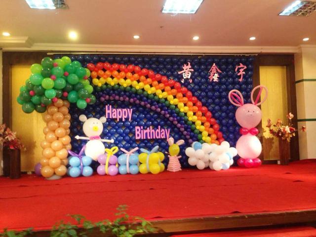 寶寶一周歲生日場景布置教程!分享兒童生日會場布置
