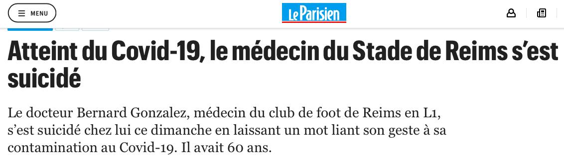 五大联赛噩耗:确诊阳性后他自杀离世 球队排名第5正为欧冠努力