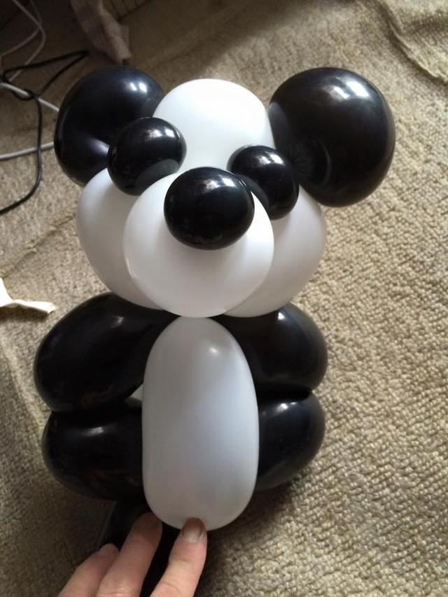 气球熊猫造型教程图解!分享最新编制步骤