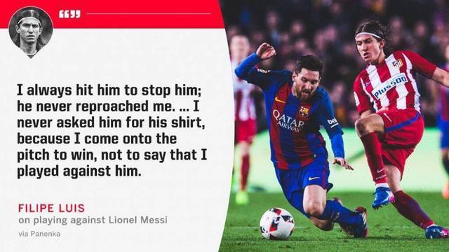 马竞恶汉:梅西从未因犯规指责我 永远都该赢金球