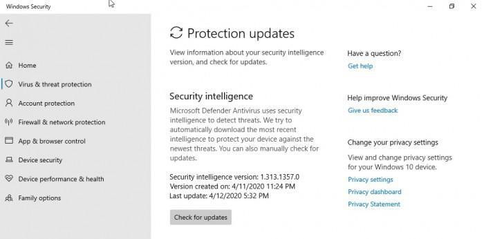 微软在Win10上为Windows Defender重新命名的照片 - 2