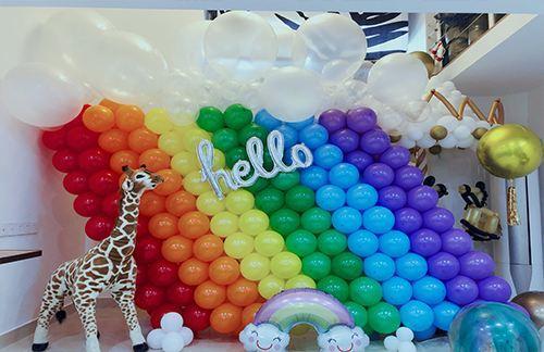 订婚宴气球布置图片大全!简单装饰效果图