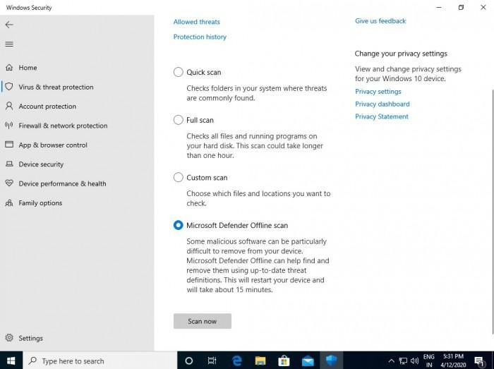 微软在Win10上为Windows Defender重新命名的照片 - 3