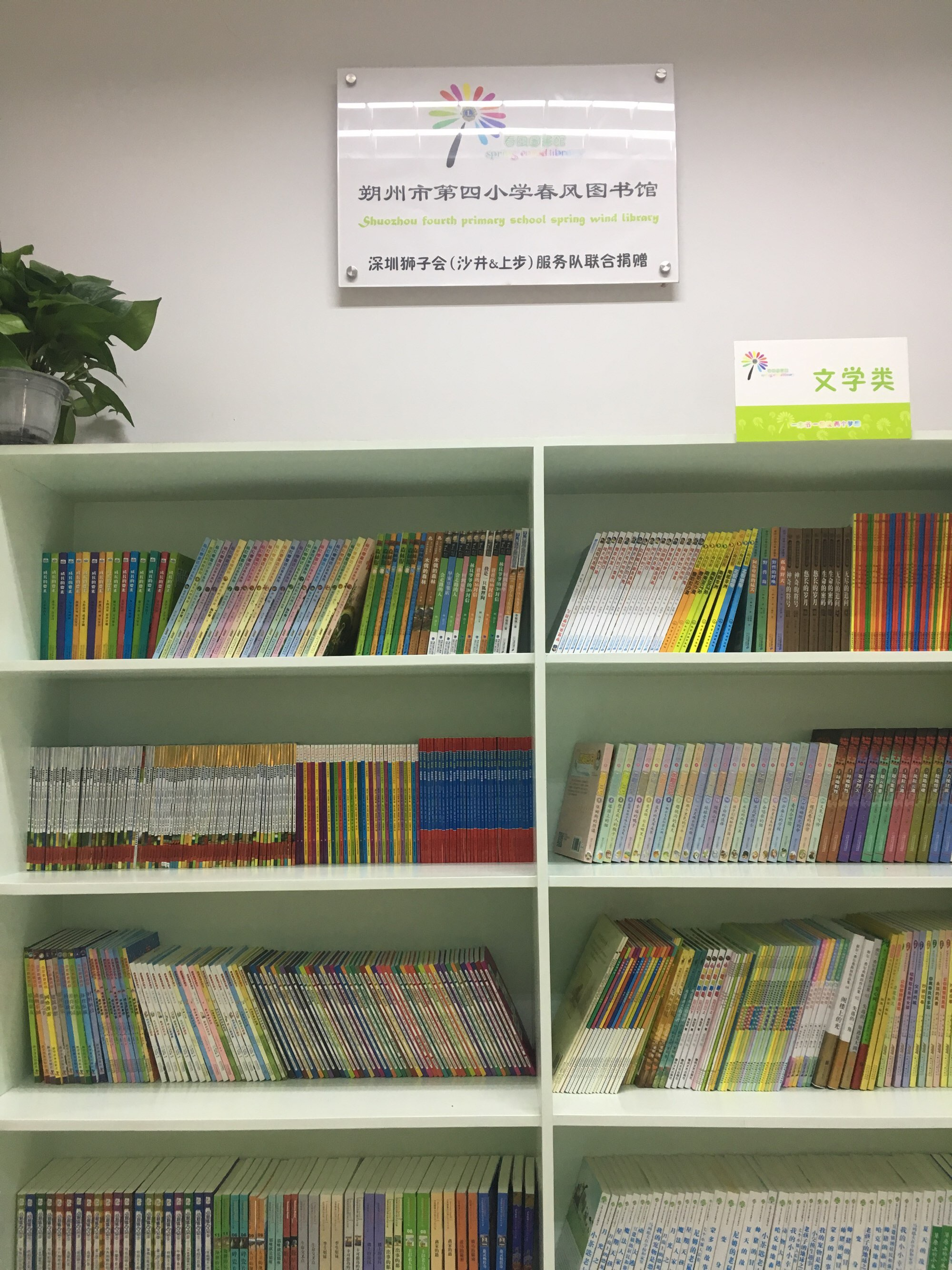 深圳狮子会上步服务队和沙井服务队向朔州市第四小学捐赠了5000册图书