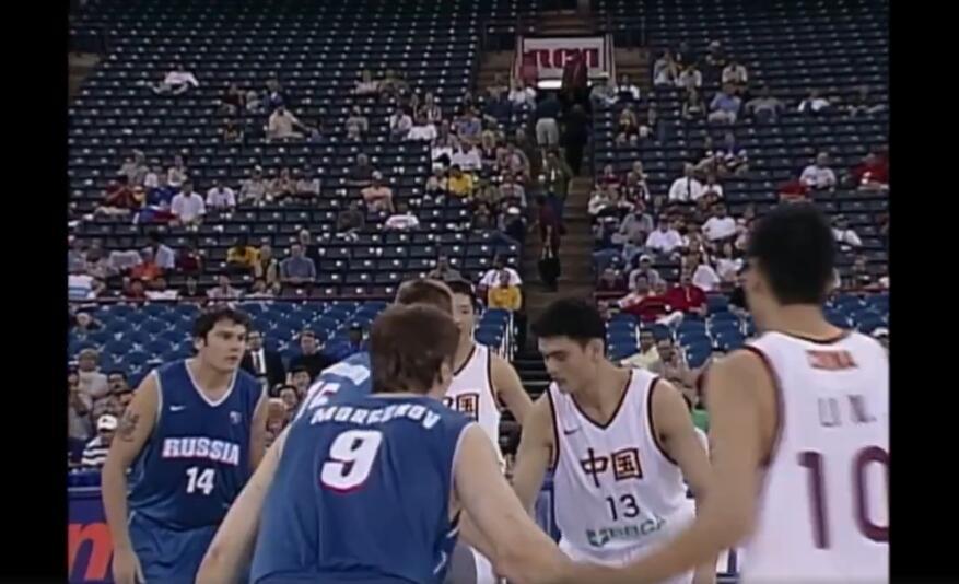 视频-2002男篮世锦赛 姚明战俄罗斯带伤砍13+9