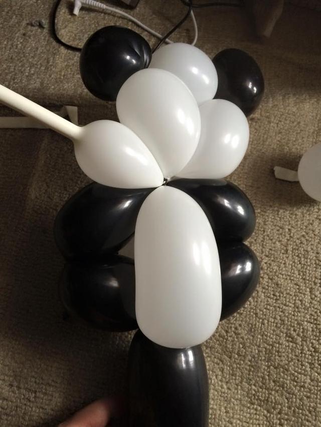 氣球熊貓造型教程圖解,2020年的制作教程