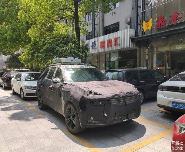 XI全网-全新领克中大型SUV现身路试 或年内亮相