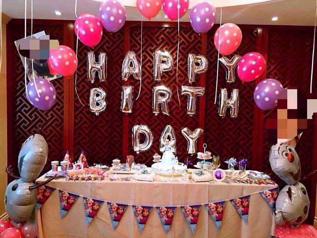 小朋友生日宴會氣球布置,寶寶生日氣球裝飾