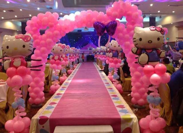 宝宝宴气球布置图片,好看的满月宴现场布置