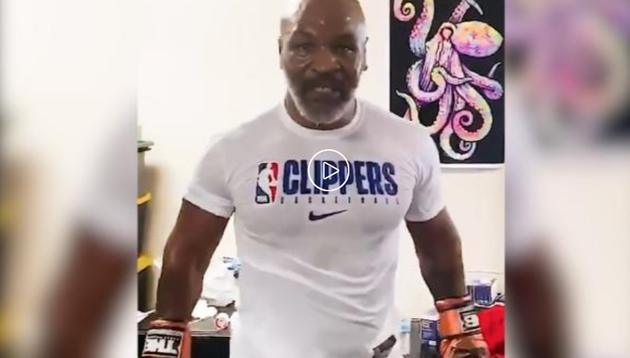 拳王泰森晒训练视频 结尾高调宣布复出打表演赛